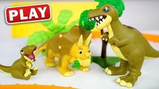 КУКУТИКИ PLAY - Мир Динозавров - Играем с Анной и Марусей