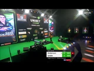 Gary Anderson vs Michael Smith (PDC Premier League Darts 2020 / Week 14)