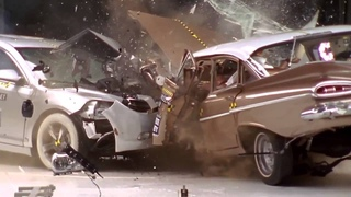 Краш-тест двух поколений Chevrolet | 1959 vs 2009