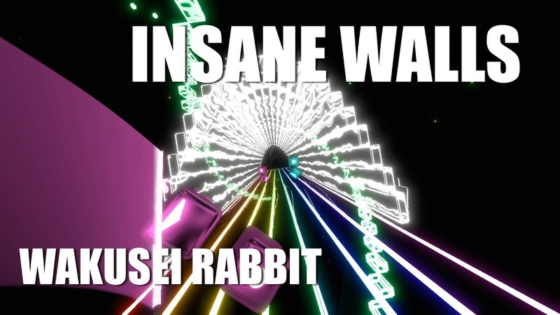 Beat Saber Yunomi Wakusei Rabbit ft TORIENA CRAZY RAINBOW WALLS