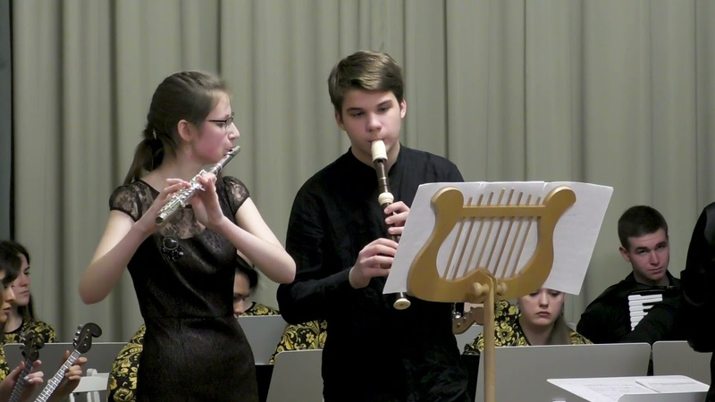 Г Ф Телеман Концерт для блокфлейты и флейты TWV 52 e1 I Largo IV Presto