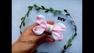 Бантик из репсовой ленты/DIY/Beautiful ribbon bow
