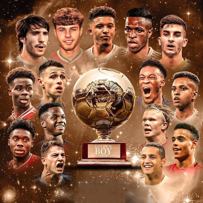 ⚡ Издание Tuttosport представило шорт-лист из 20 номинантов на награду Golden Boy.