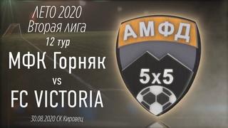 МАТЧ МФК Горняк 3:3 FC VICTORIA Вторая лига Донецка. 11 тур. ЛЕТО 2020