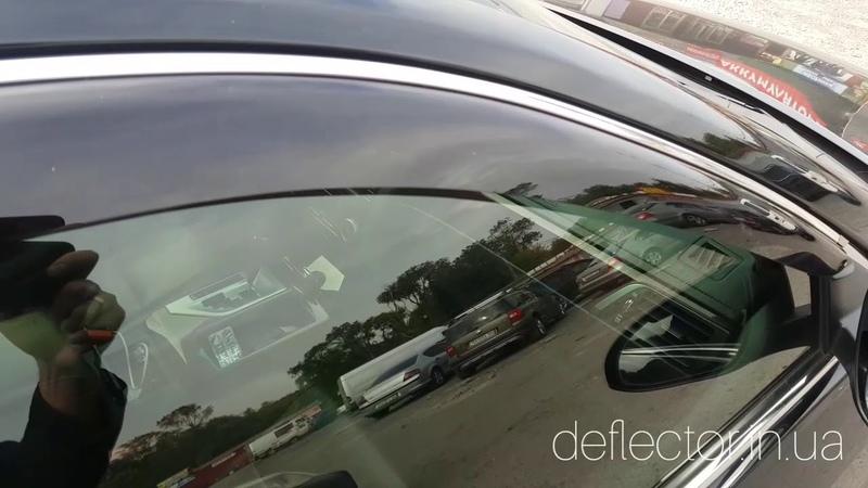 Дефлекторы окон с хромированной полосой Toyota Camry XV50 VII 2011 2017