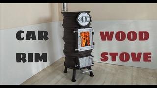 DIY Wood Stove made from Car Rims