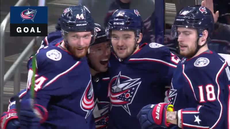 Cam Atkinson Dishes Dirty Backhand Flip Pass For Emil Bemstrom To Score