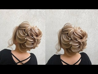 #weddinghairstyle #coctexturat Wedding Hair Style Video Tutorial Текстурныии Пучок