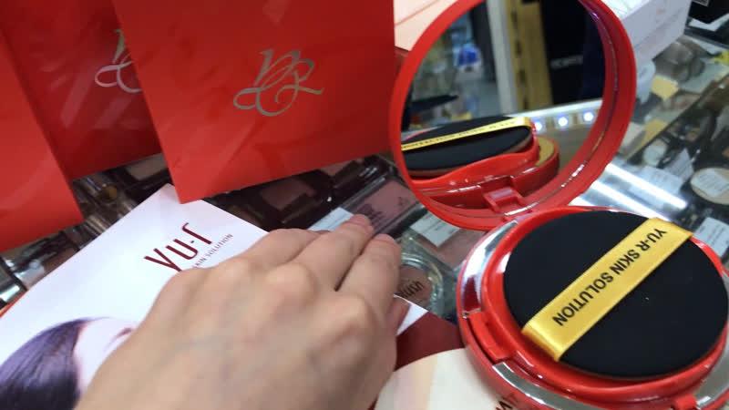 ТОНАЛЬНЫЙ КУШОН - УВЛАЖНЯЮЩИЙ 💔 от Корейского бренда YU.R Moist Layer Cushion SPF 50, PA,