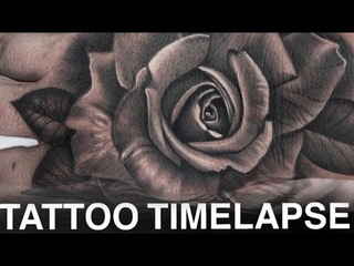 TATTOO TIME LAPSE | HAND ROSE | CHRISSY LEE