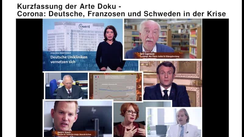 Kurzfassung der Arte Doku Corona Deutsche Franzosen und Schweden in der Krise