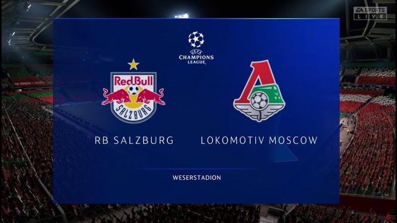 Ред Булл Зальцбург Локомотив Москва Лига Чемпионов 1 тур 21.10.20