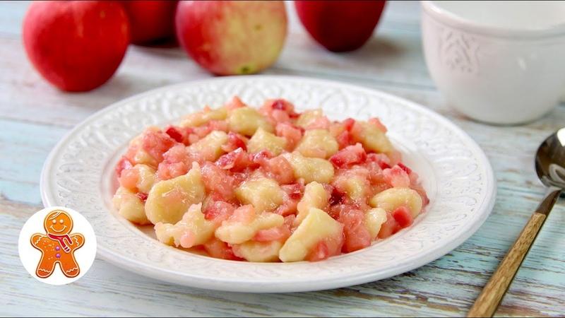 Вкусный завтрак 🍎 Яблочные клёцки