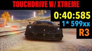 [TOUCHDRIVE] Asphalt 9 - Grand Prix Ferrari 599xx EVO (1 ⭐️) - Round 3 Time Travel - 0:40:585