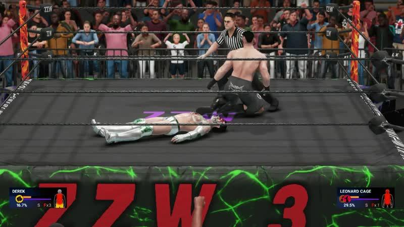 Derek vs. Leonard Cage - Money Championship match (ZZW 3rd Anniversary Show)