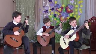 В контакте с гитарой трио: Фадеев Владислав, Каспер Кирилл, Рубцов Александр