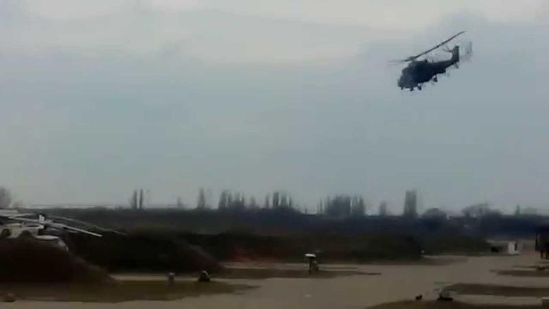 Наши боевые вертолёты в Крыму Весна 2014