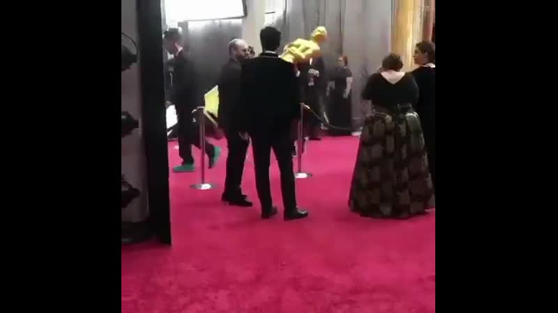 Timothée stealing an oscar for Saoirse after she loses