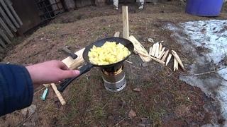 Испытываю печь для кемпинга, походов, рыбалки с Алиэкспресс