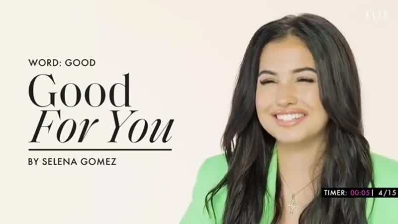Mabel sings Good For You by Selena Gomez in ELLE's word association game
