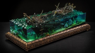 Making the Black Pearl from Pirates of the Caribbean // DIY // Resin Art