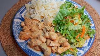 Готовлю на Ужин Нежнейшее куриное филе, макароны и зеленый салат! ВКУСНО, БЫСТРО, СЫТНО и ДЕШЕВО!