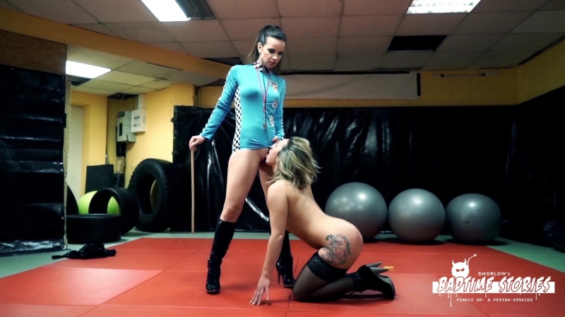 Eva Adams Annika Rose Obedient squirting German babe submits and cums for dominatrix Annika Rose
