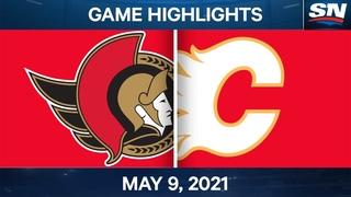 NHL Game Highlights | Senators vs. Flames - May 9, 2021