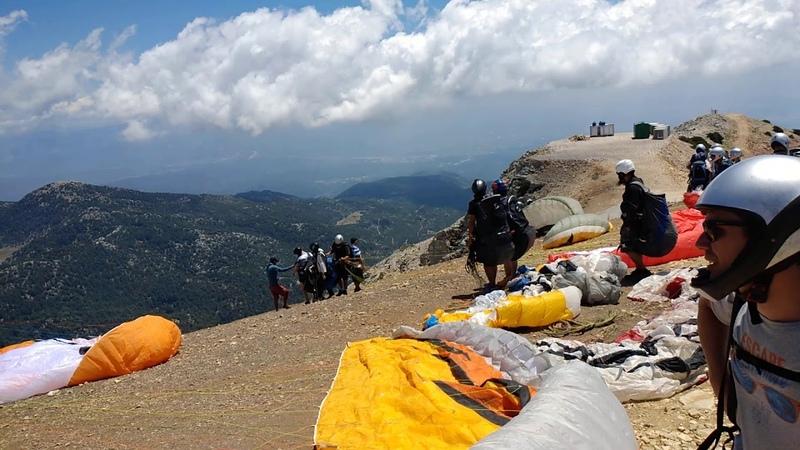 Взлетная площадка на горе Бабадаг 2000 м