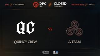 Quincy Crew vs A-Team, Dota Pro Circuit 2021: S1 - NA, bo3, game 2 [Jam & CrystalMay]