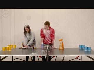 ЦУЕФА Самый жесткий страх-понг! (Габар vs Полина Гренц) | ПО ШАРАМ | ЦУЕФА
