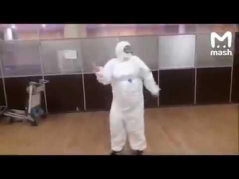 Медики в Шереметьево танцуют под тему из Охотников за привидениями