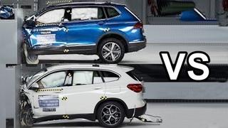 2018 BMW X1 vs 2018 Volkswagen Tiguan - Crash Test