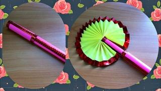 Как сделать складной веер из бумаги, который выручит в жаркую погоду