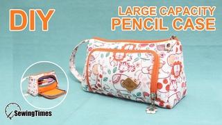 Pencil Case DIY 수납빵빵 필통만들기 | makeup bag | fabric zipper pouch #sewingtimes