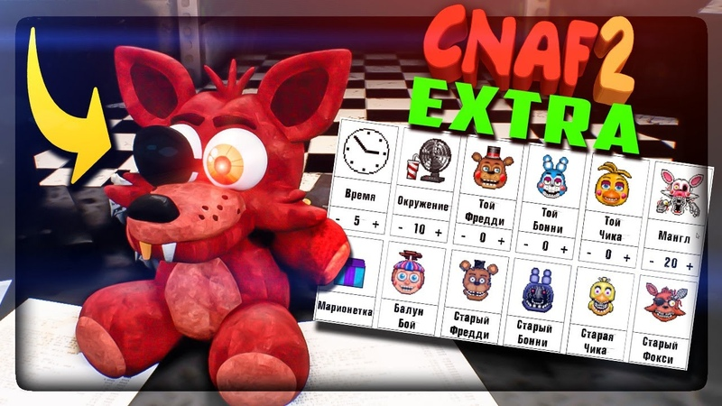 СМОТРИМ МЕНЮ EXTRA CNAF 2 ПОЯВИЛСЯ ПЛЮШ ФОКСИ ▶️ FNAF Creepy Nights at Freddy's 2 5