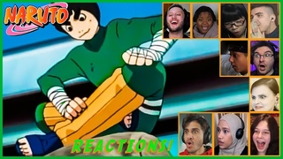 Reaction compilation on Rock Lee takes off his weights   Naruto Episode 48 Reaction Mashup