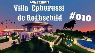 Minecraft Villa Jardins Ephrussi de Rothschild #010   Eingangsfront zur Villa