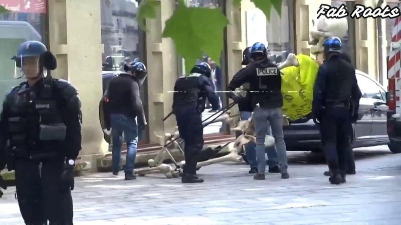 LA POLICE CONFISQUE UNE IMMENSE MARIONETTE SQUELETTE GJ A MONTPELLIER