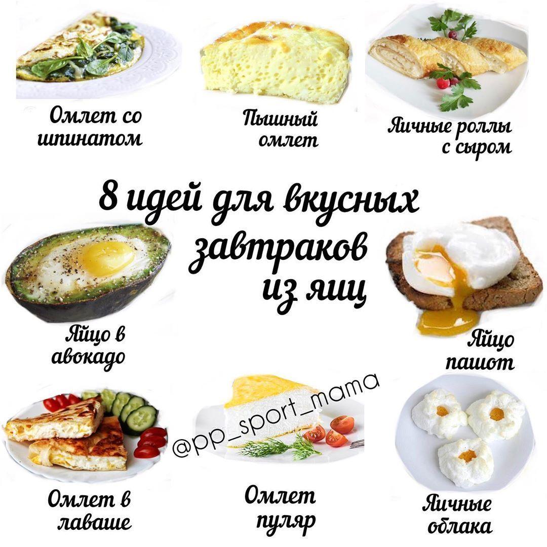 Подборка вкусных белковых завтраков
