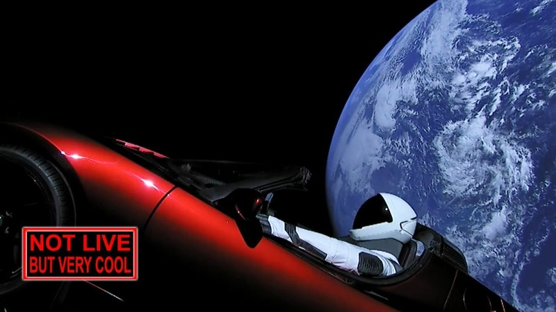 24 7 Relaxing ChillStep Ambient: SpaceX Starman s Cosmic Journey new URL!
