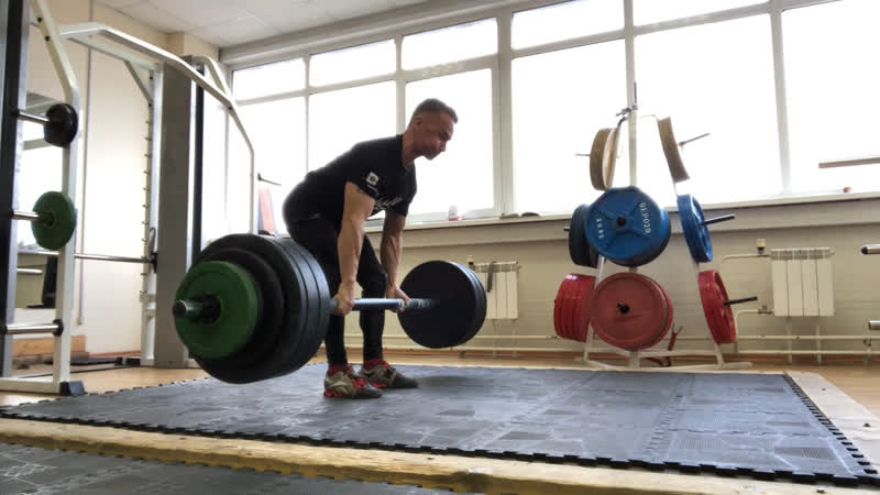 Axle deadlift разнохват 140 5