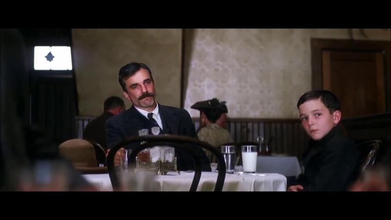 Дэниел с сыном в ресторане И будет кровь Нефть 2007 г