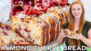 The Best Almond Cherry Bread Recipe   Super Moist & Delicious!   with easy almond glaze!