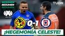 Resumen | América 0 - 1 Cruz Azul | Liga Mx Clausura 2020 - Jornada 10 | TUDN