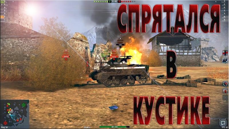 СПРЯТАЛСЯ В КУСТИКЕ World of Tanks Blitz