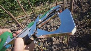 Быстрая подвязка помидор тапенером степлером для подвязки растений