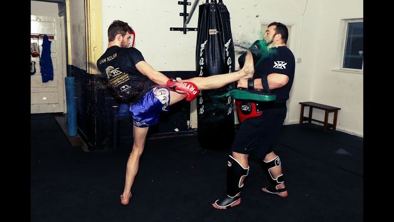 Muay Thai Kicks Using the Aggressive Teep to Knock Opponents off their Feet with Christian Knowles
