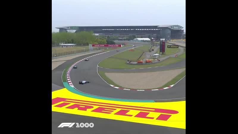 Ферстаппен и Кубица разворот на прогревочном круге Гран при Китая Формула 1 2019