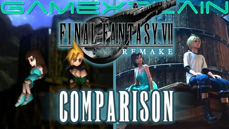 Final Fantasy VII Remake Crossdressing Trailer Head to Head Comparison PS4 vs PS1